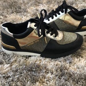 Gold and black Michael Kors sneakers!